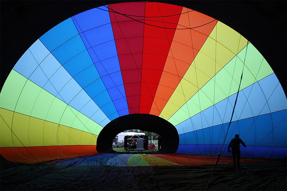 Hamilton balloon inside