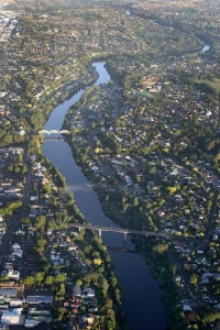 waikato river from above
