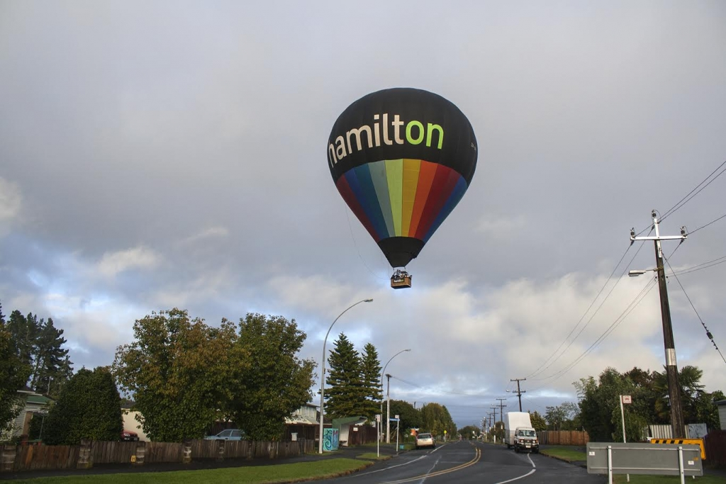 Hamilton over a Street